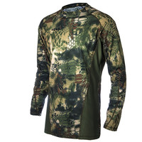 Military Camouflage Hunting Clothes Airsoft T-shirt  Outdoor Sports Camping Hiking Survival Shirt Tactical Suit Paintball Gear