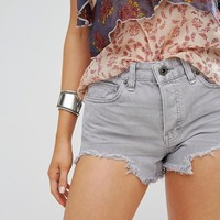 Free People Logan Frayed Hem Denim Shorts at asos.com