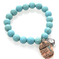 Follow Your Arrow Turquoise Bracelet