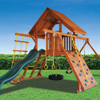 Playground One Original Playcenter with Wood Roof
