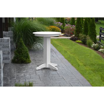 "A & L Furniture Recycled Plastic 33"" Round Bar Table  - Ships FREE in 5-7 Business days"