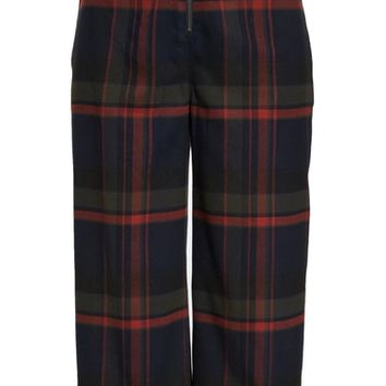 BP. Plaid Crop Pants (Regular & Plus Size) | Nordstrom