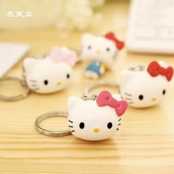 NEW DESIGN CARTOON HELLO KITTY EXTREMELY CUTE KEYCHAIN KEY CHAIN KEYRING FOR BAG CHARMS CAR PENDANTS NOVELTY PRODUCT GREAT GIFT