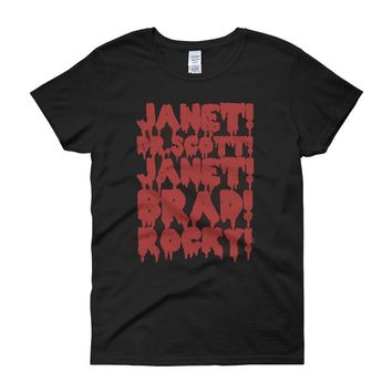 Rocky Horror Picture Show Janet Brad Dr Scott Frank N Furter Horror Musical Movie Women'S T Shirt