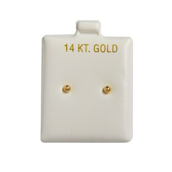14k Yellow Gold Ball 2mm (Baby) Stud Earrings Silicone Backs