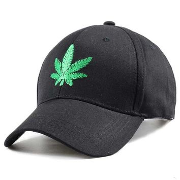 Sports Hat Cap trendy  Men's and Women's Baseball Caps Snapback Fashion Hemp Leaf Embroidery Cap Washed Cotton Visor Trend Outdoor  bone KO_16_1