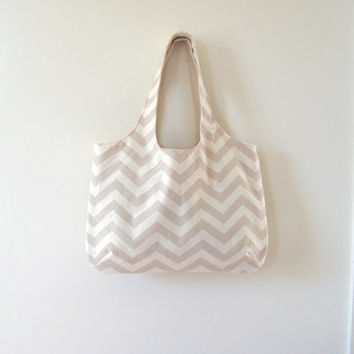 Chevron Tote, Choose a Color, Chevron Bag, Gym Bag, Beach Bag, Library Bag, Made to Order, Made to Order