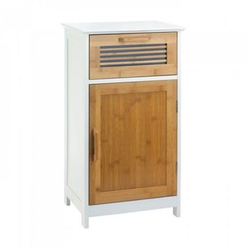 Sleek Bamboo Floor Cabinet