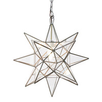 Worlds Away Clear Star Chandelier