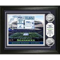 Seattle Seahawks ?Banner Raising? Silver Coin Photo Mint