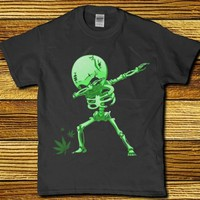 Dancing weed Skeleton funny adult unisex t-shirt