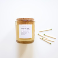 Grapefruit and Spearmint Hand Poured Natural Candle