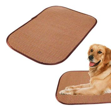 Summer Cool Pet Food Pad Dog Feeding Mat Large Pet Mat For Dog Cat Feeder Placemat Protects Your Floor