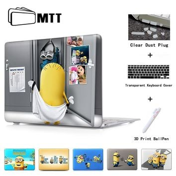 Minions Dressing Room Laptop Skin Case Notebook Cover for Macbook Air 11 13.3 New 12 Inch Pro 13 15 Retina Laptop Hard Shell