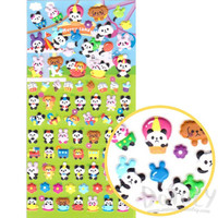 Bunnies Panda Bear Shaped Carnival Themed  Puffy Stickers for Kids | Cute Scrapbook Decorating Supplies