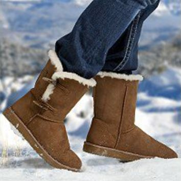 Cozie Steps 100% Sheepskin Ladies Boots - Chestnut - Sam's Club