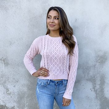 Keep On Loving You Cable Knit Sweater