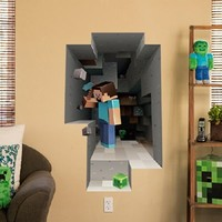 Minecraft Vinyl Wall Graphics Mining 2-Pack