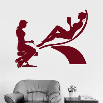 Vinyl Wall Decal Nail Spa Salon Pedicure Woman Stickers Mural Unique Gift (ig3686)