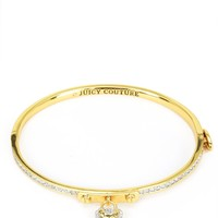 Gold Jc Pave Heart Fine Bangle by Juicy Couture, No