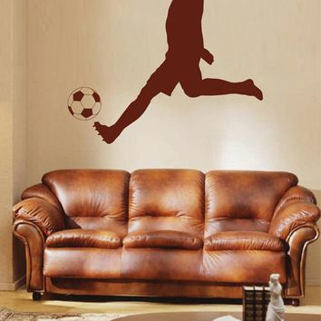 ik1934 Wall Decal soccer football ball sport man living bedroom
