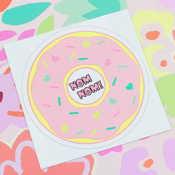 Nom Nom Donut Sticker
