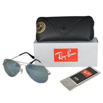 MDIGONT *New* Ray-Ban Aviator RB3025 Metal Sunglasses - Silver w/ G15 Green Lens (58mm)