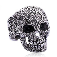 Punk Style Silver Skull Ring — accessoryinlove