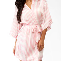 Vertical Stripe Sleep Robe