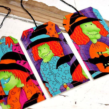 Halloween Place Cards Witch Trick or Treat Party Favor Tags Gift Wrap Tie Ons Original Handmade Place Setting Labels itsyourcountry