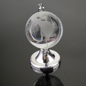 Beautiful Crystal World Map Christmas Gift Glass Sphere Ball Crafts Art Table Ornaments Gold Silver Clear 6.5*4.5*4.5cm