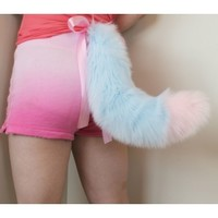 "24"" Tipped Fox Tail - Kitten's Playpen"