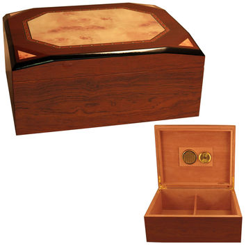 Diamond Cigar Box Humidor for 50 Cigars