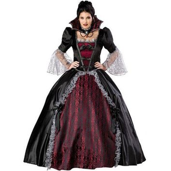 New High Quality Black Queen Dress Halloween Costumes For Women Sexy Vampire Witch Cosplay Party Costume Carnival Of Princess