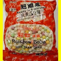 Rainbow Tapioca Pearls Boba Bubble Tea 2.2 lb