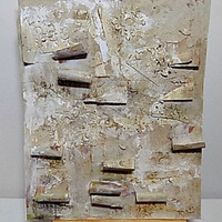 Ancient Decline Mixed Media Canvas Board. Ready to Ship