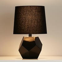 Geometric Table Lamp Base (Black) in Table Lamps | The Land of Nod