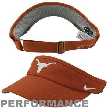 Nike Texas Longhorns Sideline Dri-FIT Adjustable Performance Visor - Burnt Orange
