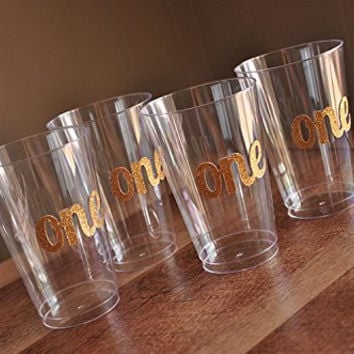 1st Birthday Party Supplies. Set of 10 One Party Cups.