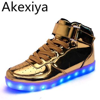 Golden Silver Led Shoes