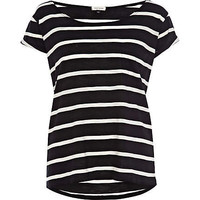 Black stripe boxy t-shirt - plain t-shirts / tanks - t shirts / tanks / sweats - women