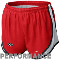 Nike Georgia Bulldogs Ladies Tempo Performance Shorts - Red