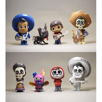 Disney Coco Movie 8pcs/set 6-9cm Action Figure Model Anime Mini Decoration PVC Collection Figurine Toy model for children