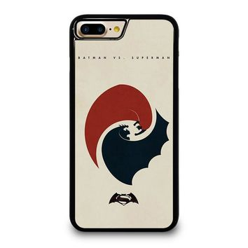 SUPERMAN VS BATMAN YIN YANG iPhone 4/4S 5/5S/SE 5C 6/6S 7 8 Plus X Case