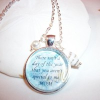 Mother Beach Themed Charm Necklace