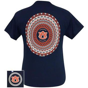 Auburn Tigers War Eagle Preppy Mandala T-Shirt
