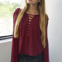 Juliet Lace Up Top (more colors)