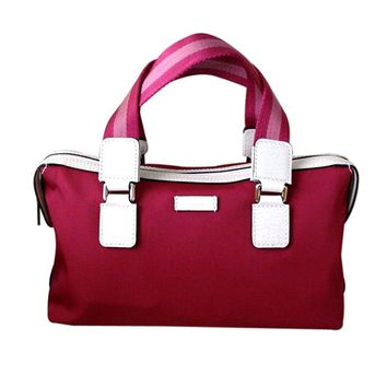 Gucci Boston Fuschia Handbag Bowling Bag 264210 5560