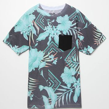 Hurley Tropical Geode Allover T-Shirt - Mens Tee - Black