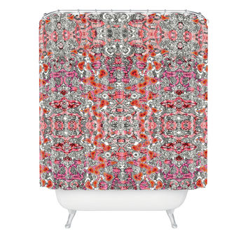 Ingrid Padilla Inked Whimsy In Pink Shower Curtain
